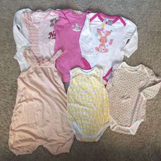 set combo baby romper overall pumpkin patch cotton on