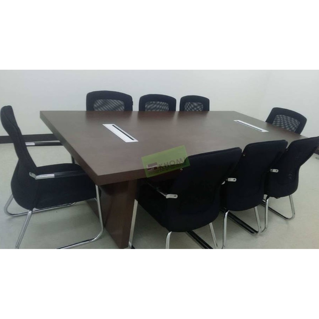 Picture of: 10 Seater Conference Table With Wire Management Khomi Home Furniture Furniture Fixtures Others On Carousell