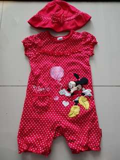 Mothercare minnie mouse jumpsuit