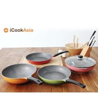 Lowenthal Titanium Stone Frying Pans - Set of 4 Read