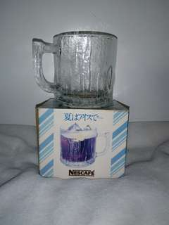 Rare Nescafe Nestle Glass Mug