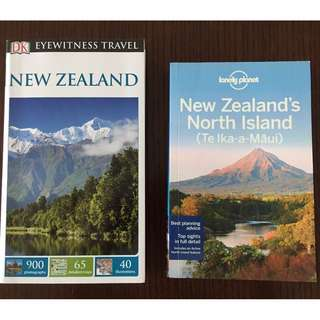 🔥Moving Sale🔥2 New Zealand Travel Guides: Lonely Planet New Zealand's North Island & DK Eyewitness Travel. An $80 Value! Can also sell separately at $8 each.