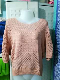 Peach Knitted Blouse