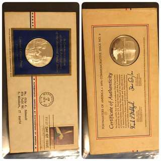 First Day Cover with Sterling Silver Coin
