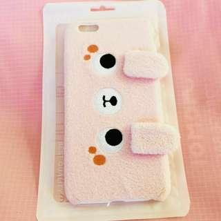 Cute pink soft fur iPhone 6/S PLUS phone case