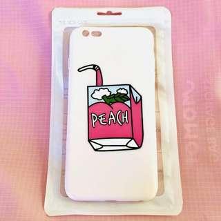 Cute pink PEACH juice iPhone 6/S PLUS phone case
