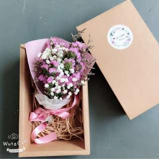 Flower bouquet with box