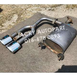 "Exhaust Muffler HKS Cool Style Dual Tip 1.8"" Japan"