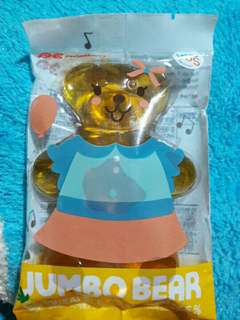 韓國 GS25限定 巨大熊熊軟糖 鳳梨(75元)