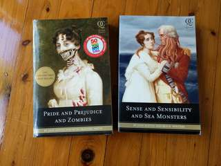 Jane Austen - Quirk classics - Pride and Prejudice and zombies + sense and sensibility and sea monsters