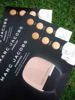 Marc Jacobs Shamless foundation and primer Sample card X3