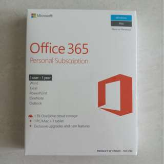 Brand New Office 365 subscription Personal use