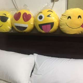 Smiley emoticons pillow