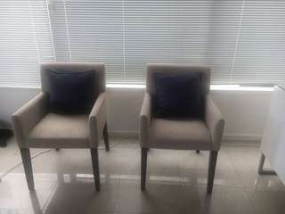 2x west elm dining/accent chairs
