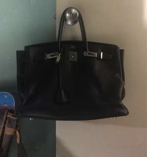 Hermes Birkin Black with Palladium Hardware