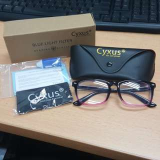 Cyxus Anti Blue Light Eyestrain Computer Reading Glasses Gradient Pink Gaming Eyewear