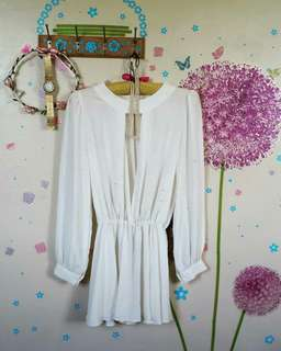 ❤ White open front & back dress/blouse