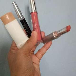 Take all lipcream wardah.lipstik matte wardah. Eyeliner kajal oriflame. Foundation pixy