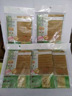 Paket 5 Pasang Gold Bamboo Foot Patch ( Original )