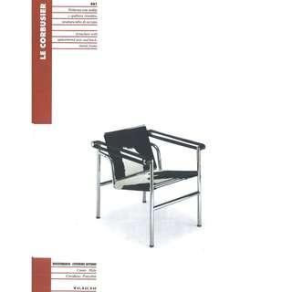 WATEK Le Corbusier Armchair (021 BLACK HIDE/CHR)