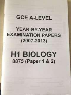 GCE A-Level 8875 H1 Bio (2007-2013)
