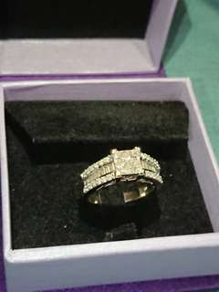 Diamond Ring White Gold 1.33 carat diamonds total cincin