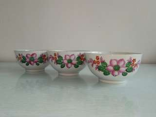 60-70s Porcelain Bowls height 6cm diameter 11.5cm all perfect condition