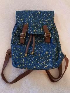 Navy star backpack from The Heirs Korean Drama