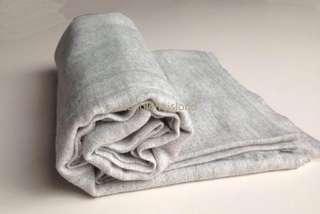 100% Wool Scarf - Light Grey