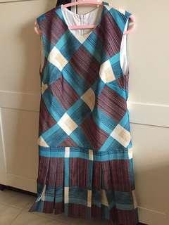 Saturday Club Dress checkered