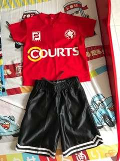 Boys football jersey set