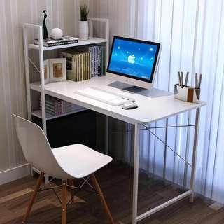 Computer Desk with Shelf White Color OD-04A