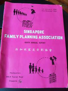 1958 Singapore Family Planning Association Booklet
