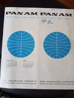 1965 Pan Am Timetable Booklet