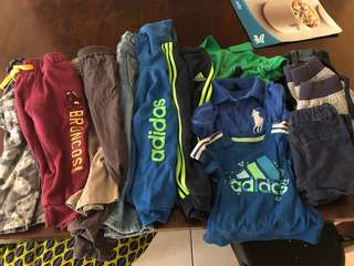 Toddler clothes and shoes bundle