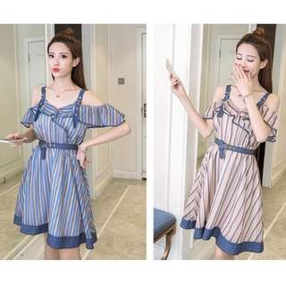 GSS5096 OFF-SHOULDER-DRESS(instock)