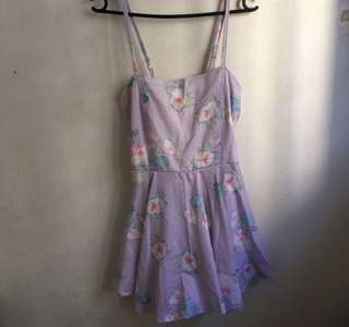 livejournal lilac floral romper dress