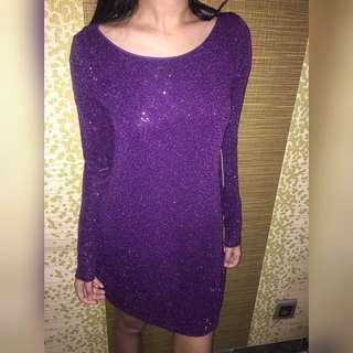 Express Purple Dress
