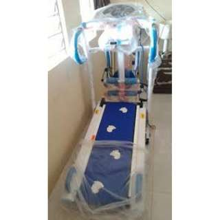 Treadmill Elektrik 6 IN 1 Biru anti gores paling laris indonesia spt Life Fitness