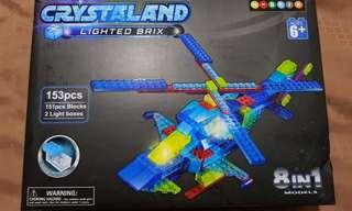 CRYSTAL LAND LIGHTED BRIX LEGO