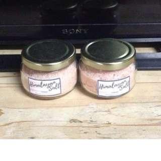 Himalayan pink salt, food grade and authentic - 2 jars