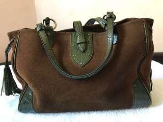 Fino Brown Suede Bag