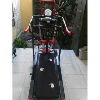 Total fitness - New TL-003Ag-Black Treadmill Manual Multi Fungsi Plus Stepper-Alat Olahraga-Alat Fitness-Jogging/Lari