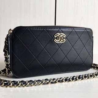 Chanel Metallic Double WOC