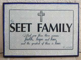 Personalised Frame / Christian Gifts