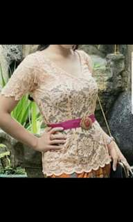 Kebaya stretch peach