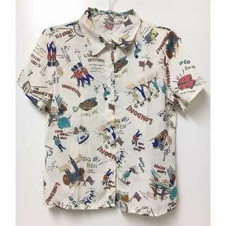 英國複古圖案襯衫