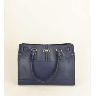 (NEW) Salvatore Briana Small Tote Bag (Navy Blue)