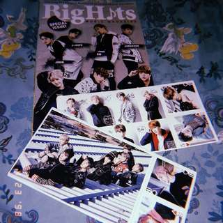 BTS Postcard and Magazine