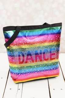 RAINBOW SEQUINED DANCE TOTE BAG